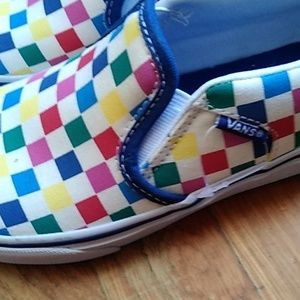 Vans Shoes - Checkered slip on vans